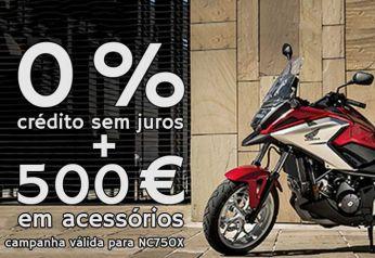 NC750X - 0% juros + 500€ em acessórios